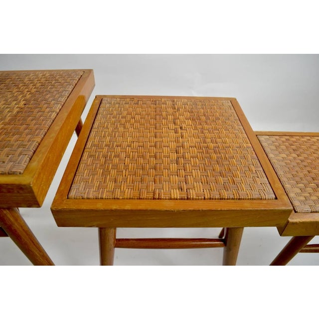 Pair of Nesting Stacking Tables For Sale - Image 4 of 10