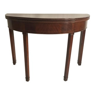 Hepplewhite Demi-Lune Mahogany Card Table