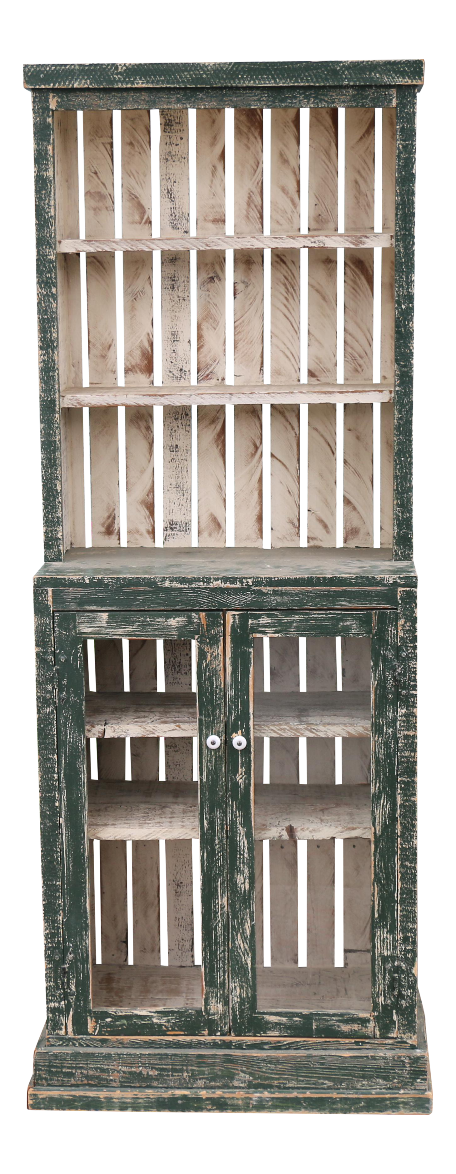 Charmant Rustic Custom Made Tall Cabinet For Sale