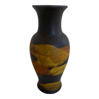 "Royal Haegar ""Earth Wrap"" Lava Glaze Vase"