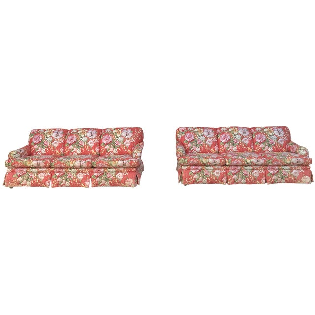 Vintage Floral Morris James Sofas - A Pair - Image 1 of 11