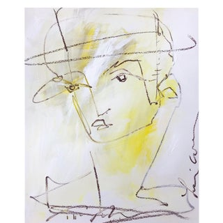 Yellow Man With Hat by Leslie Weaver For Sale