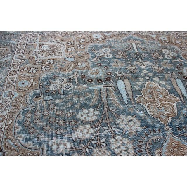 """Textile 1930's Vintage Tabriz Wool Rug-7'x10"""" For Sale - Image 7 of 9"""