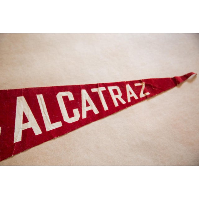 Americana Class of 1990 Alcatraz Brass and Stripes Forever Felt Flag For Sale - Image 3 of 5