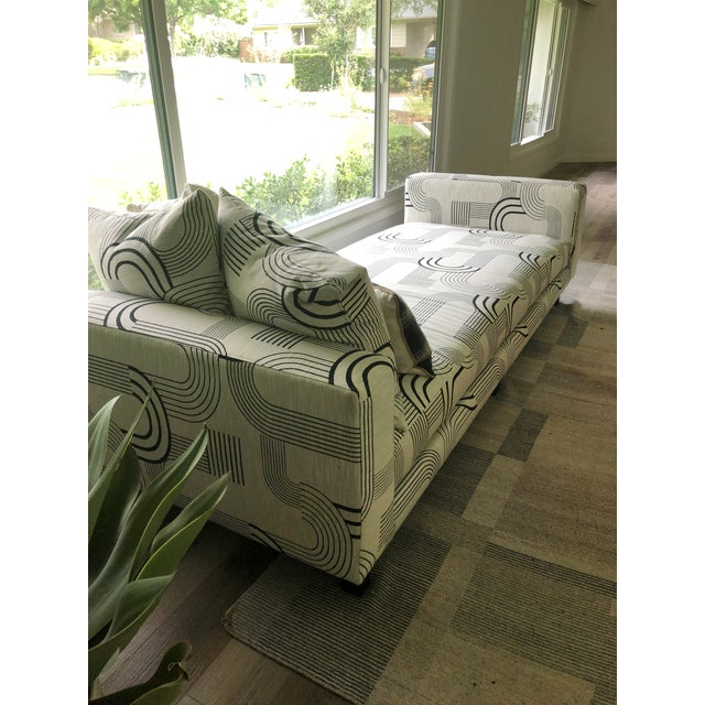 Black & White Art Deco Style Daybed For Sale In Los Angeles - Image 6 of 8
