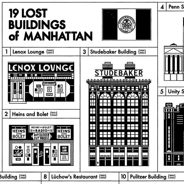 Contemporary Demolished Buildings of Manhattan Poster For Sale - Image 3 of 9