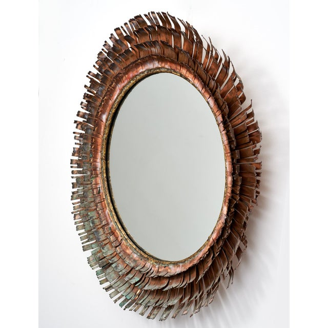 C. Jere Brutalist Metallic Concentric 'Eyelash' Mirror, ca. 1970 For Sale - Image 9 of 11