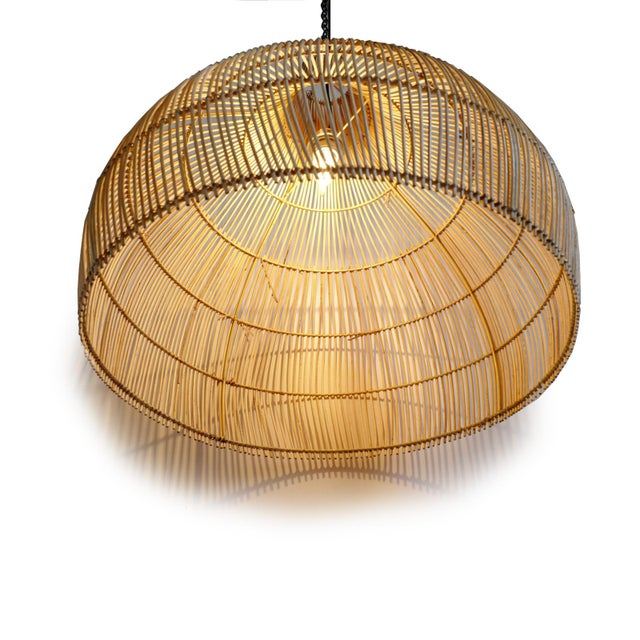 Contemporary Wicker Kuba Dome Lantern For Sale - Image 3 of 7