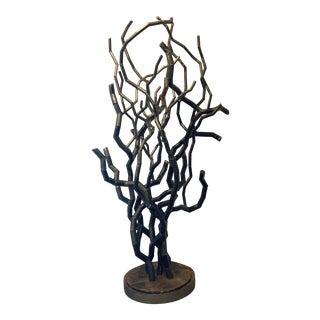 Organic Modern Iron Art Sculpture by Bruno Armesto For Sale