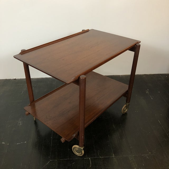 1960s 1960s Danish Teak Expanding Server/Bar Cart For Sale - Image 5 of 13