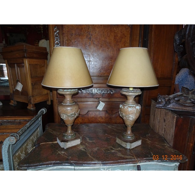 Italian 19th Century Pair of Lamps For Sale - Image 9 of 13