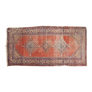 "Antique Malayer Rug Runner - 3'8"" x 7'6"" For Sale"
