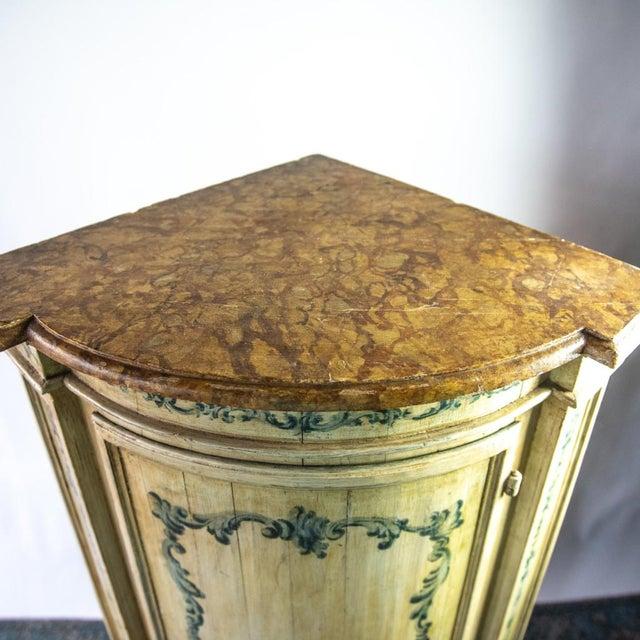 Antique Italian Corner Cupboard For Sale - Image 4 of 7