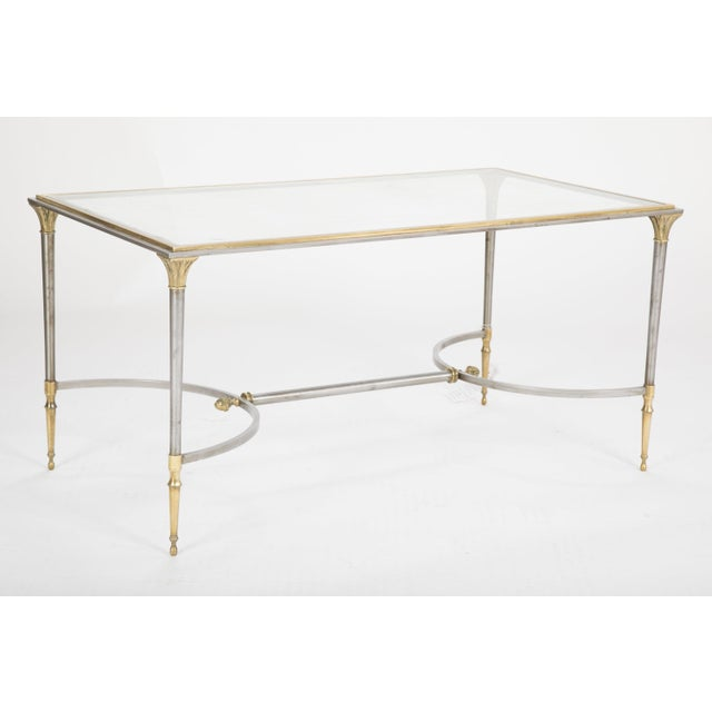 Maison Charles Steel & Bronze Glass Top Coffee Table For Sale - Image 13 of 13