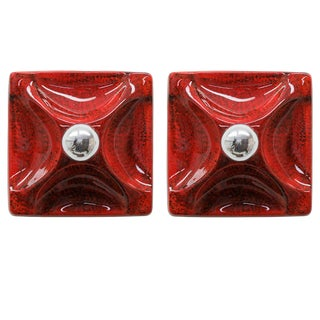 Ceramics Wall Lights - a Pair For Sale
