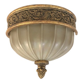 Murray Feiss Baroque Brulee Gold Wall Sconce For Sale