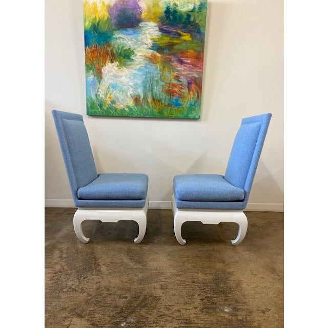 Hollywood Regency James Mont Style Chairs- a Pair For Sale - Image 3 of 6