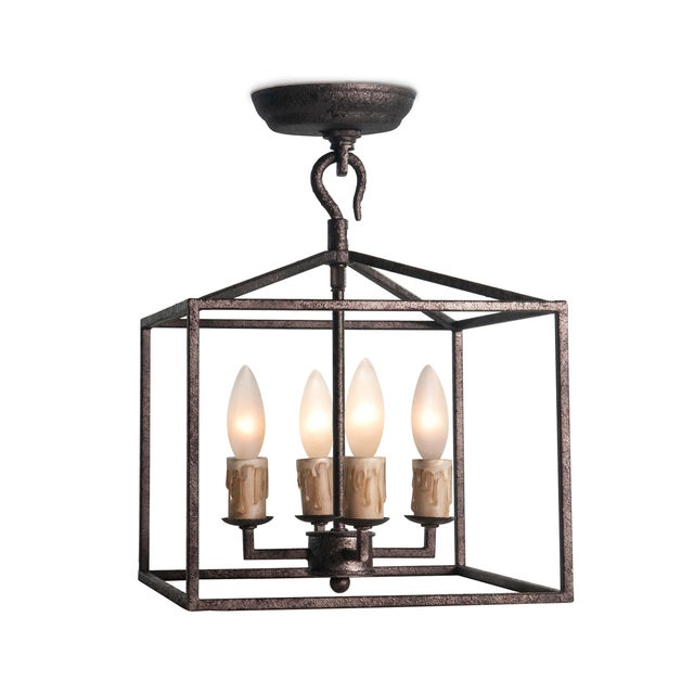 Cape Lantern Extra Small in Blackened Iron For Sale In Detroit - Image 6 of 6
