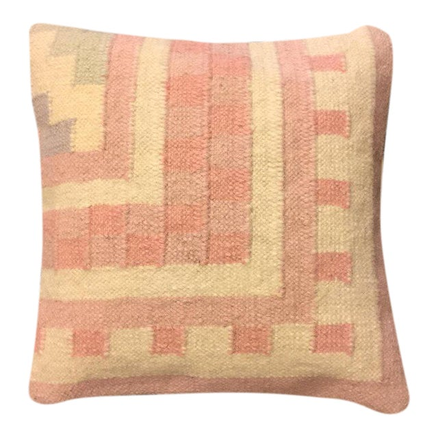 Handmade Dhori Indian Kilim Pillow Cover - Image 1 of 5