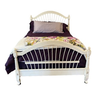 Ethan Allen French Country Full Bed Frame in Condition For Sale