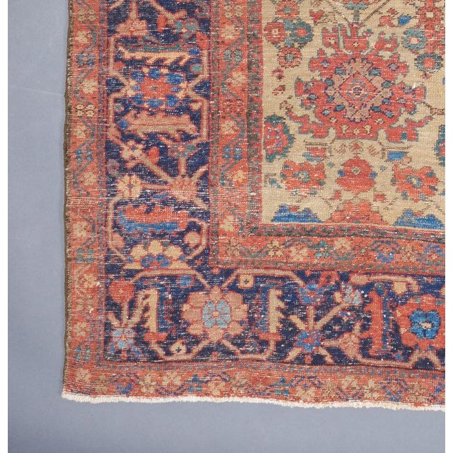 Traditional White Ground Mahal Carpet For Sale - Image 3 of 4