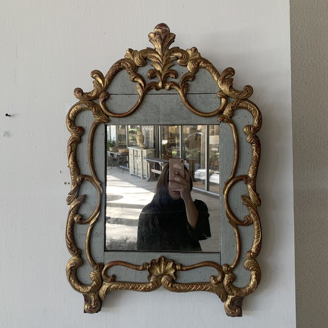 18th Century French Mirror With Carved and Gilded Overlay For Sale - Image 13 of 13