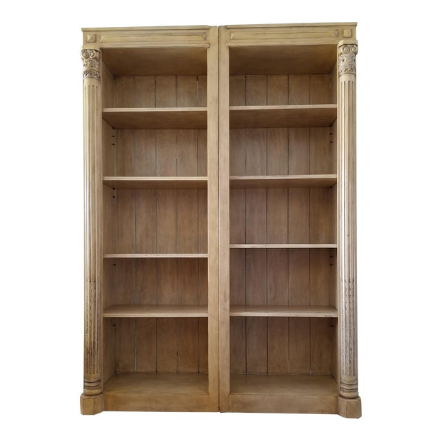 Wondrous Classical Open Library Bookcases A Pair Download Free Architecture Designs Intelgarnamadebymaigaardcom
