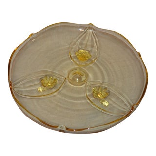 Lancaster Glass Footed Tray For Sale