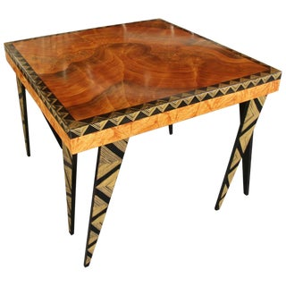 Hand-Painted Side Table by Grant Noren For Sale