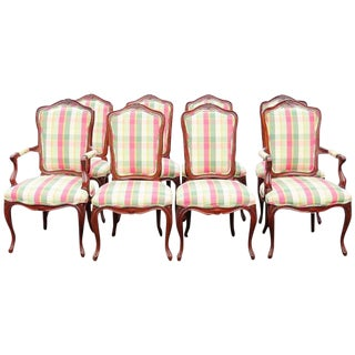 Set of 8 Country French Style Dining Chairs
