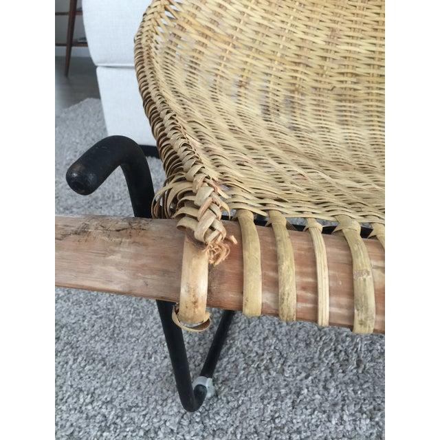 Vintage Mid Century John Risley Rattan & Iron Lounge Chair For Sale - Image 9 of 12