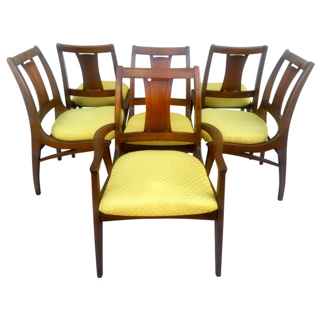 Mid Century Mod Curved Tailback Dining Chairs - 6 - Image 1 of 11