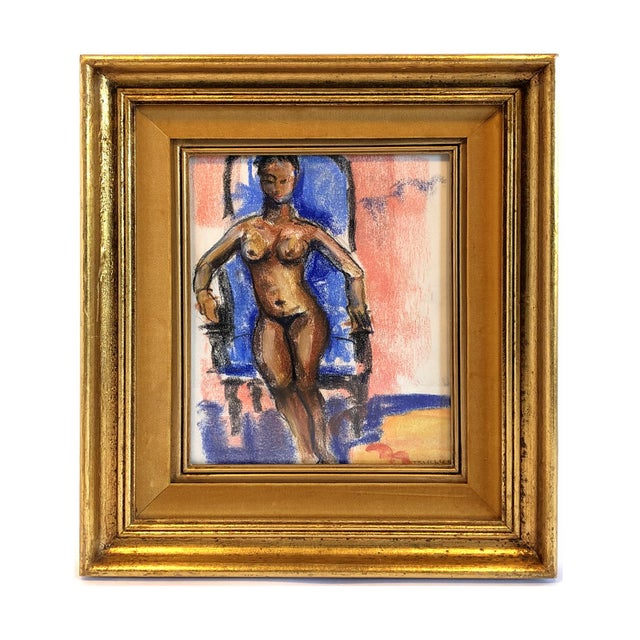 Mid 20th Century Mid-Century Gallery Wall Collection Nude Figure Drawings and Paintings - Set of 4 For Sale - Image 5 of 12