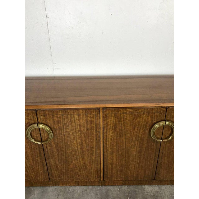 Gold Midcentury Mahogany and Brass Credenza by Micheal Taylor for Baker For Sale - Image 8 of 13