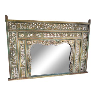 20th Century Indonesian Carved Headboard From Wedding Bed For Sale