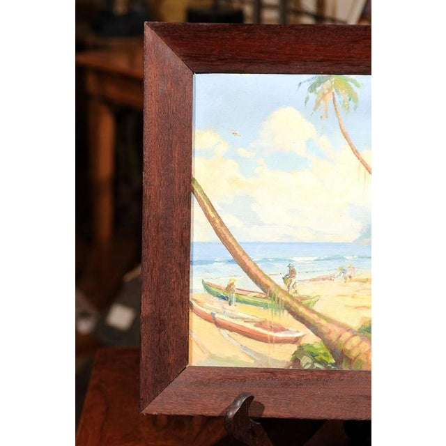 Island Landscape Oil Painting For Sale - Image 4 of 6