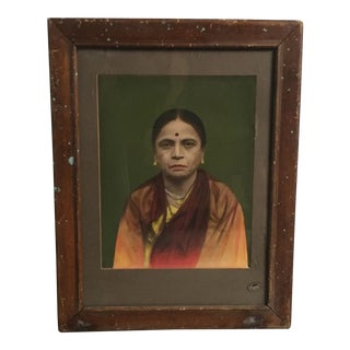 Vintage Indian Hand Tinted Photograph For Sale