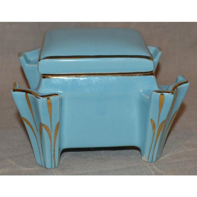 Art Deco Canonsburg China Art Deco Cigarette Box For Sale - Image 3 of 12