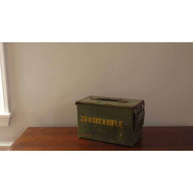 Green Stenciled Army Box - Image 4 of 4