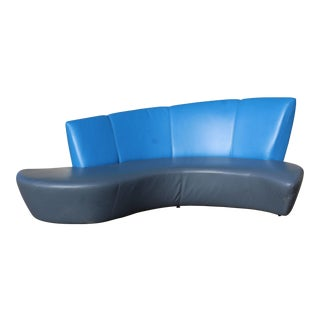 1980s Mid-Century Modern Vladimir Kagan for Weiman Curved Bilboa Sofa For Sale