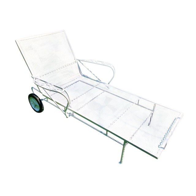 1960s Mid-Century Woodard White Chaise Lounge For Sale - Image 11 of 11
