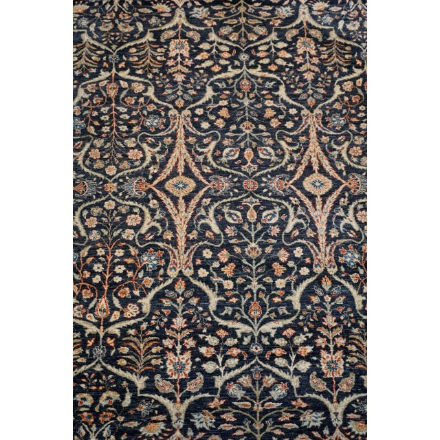 Mid 20th Century 8' X 9' Vintage Wool Peshawar Oriental Rug For Sale - Image 5 of 11