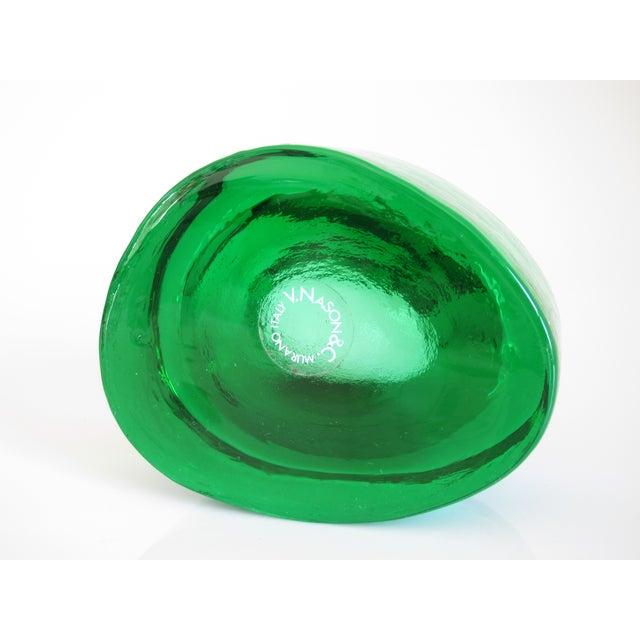 V. Nason & C. Emerald Murano Glass Paper Weight - Image 3 of 5