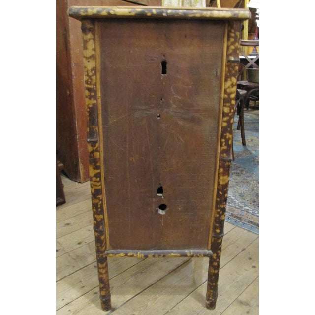 1920s Chinese Bamboo Cabinet For Sale - Image 4 of 6
