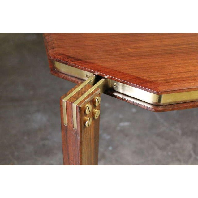 Rosewood and Brass Coffee Table - Image 5 of 10