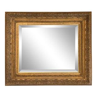 Vintage Baroque Distressed Gilt Wood Rectangular Mirror For Sale