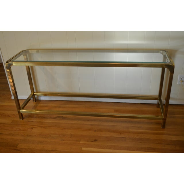 Mastercraft Hollywood Regency Brass Console/Sofa Table - Image 2 of 7