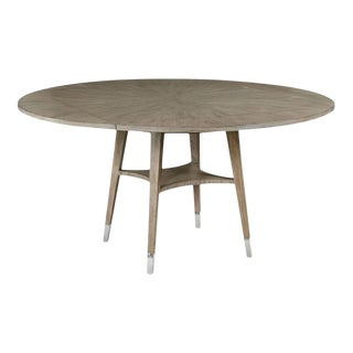 Woodbridge Tapered Legs Carlton Round Dining Table For Sale