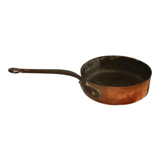 Mid 19th Century French Copper Frying Pan For Sale