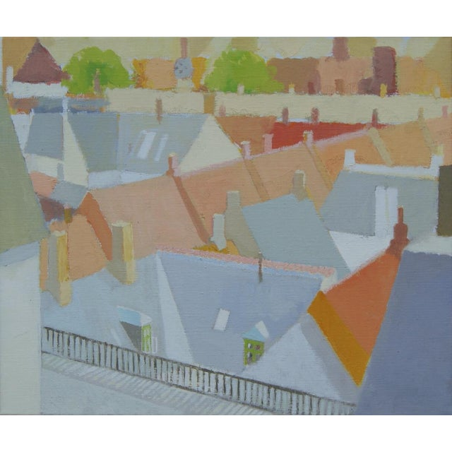 """Abstract """"Modern Cityscape"""" by Sven Enselmann For Sale - Image 3 of 5"""